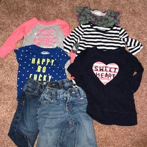 9, 12, and 18 mos OshKosh girl clothing.